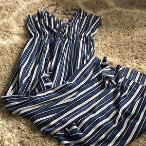 Blue and white jumpsuit size XL
